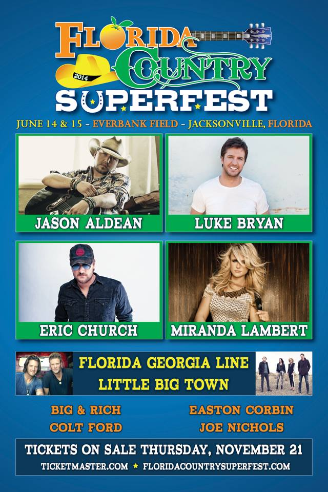 Florida Country Superfest, Jacksonville, Luke Bryan, Jason Aldean