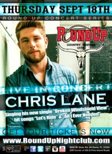 Chris Lane at the Round Up