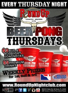 Round Up Thursday Beer Pong