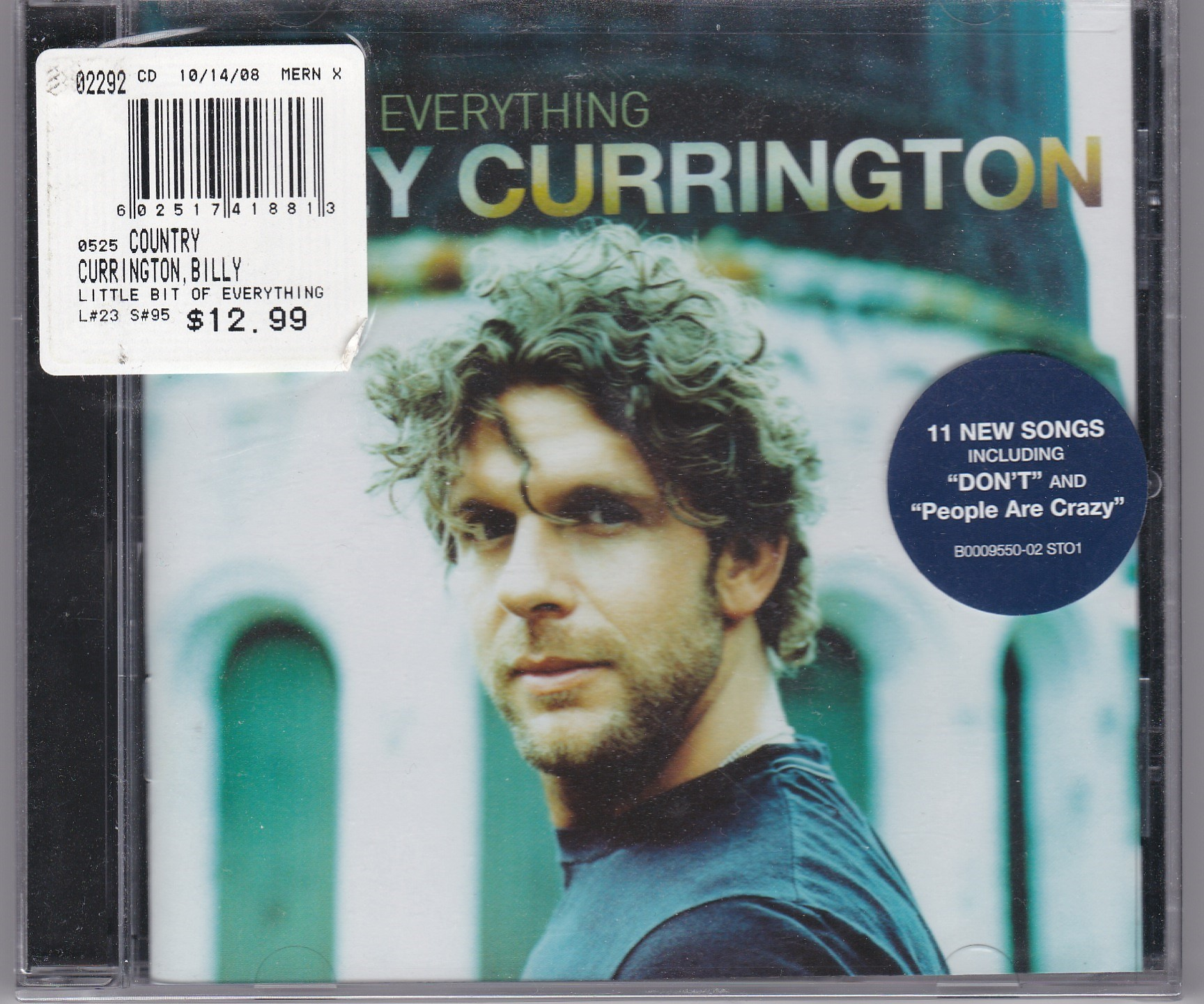Billy Currington Little Bit Of Everything New Cd South Florida
