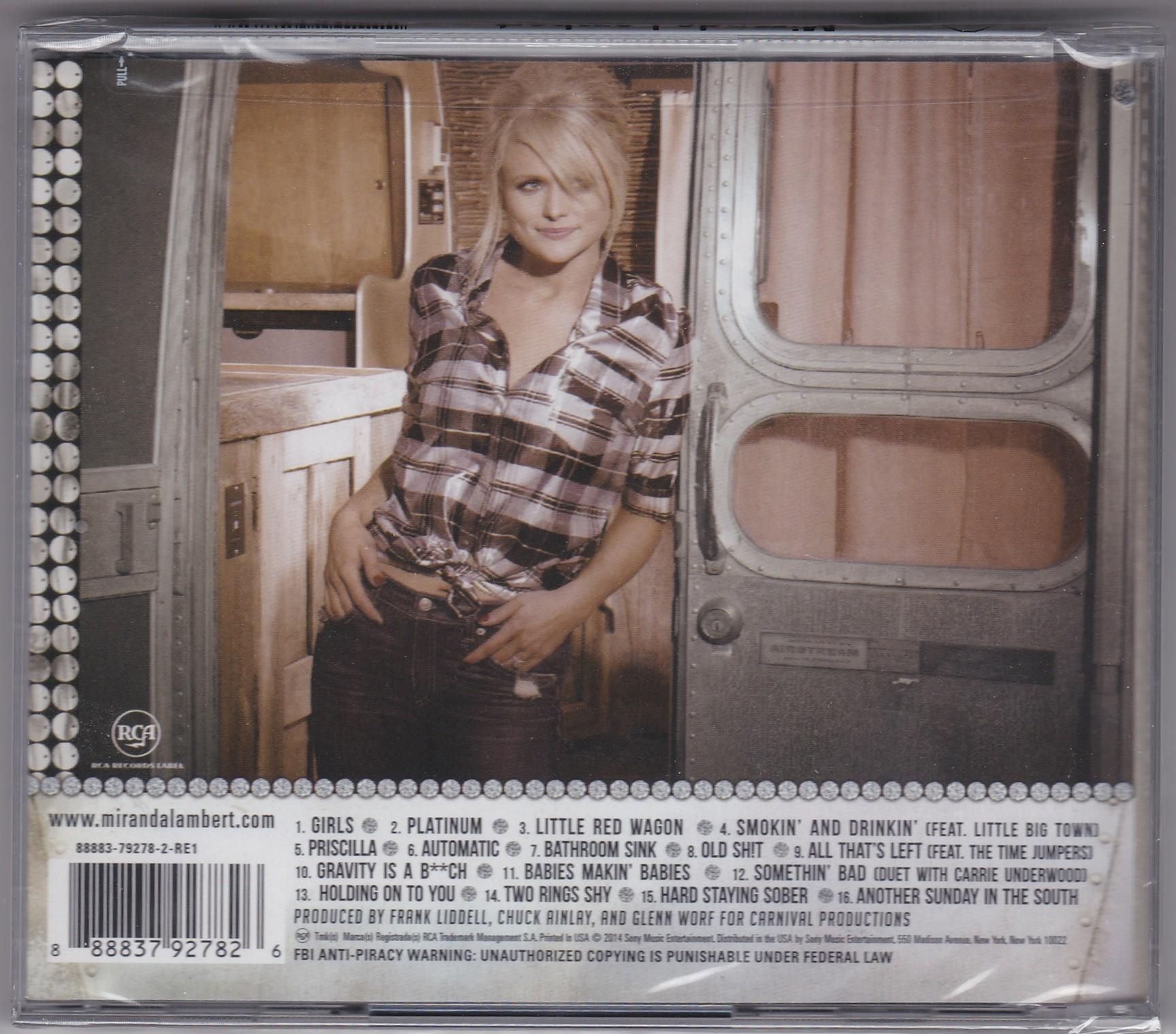 Miranda Lambert Platinum - New CD   South Florida