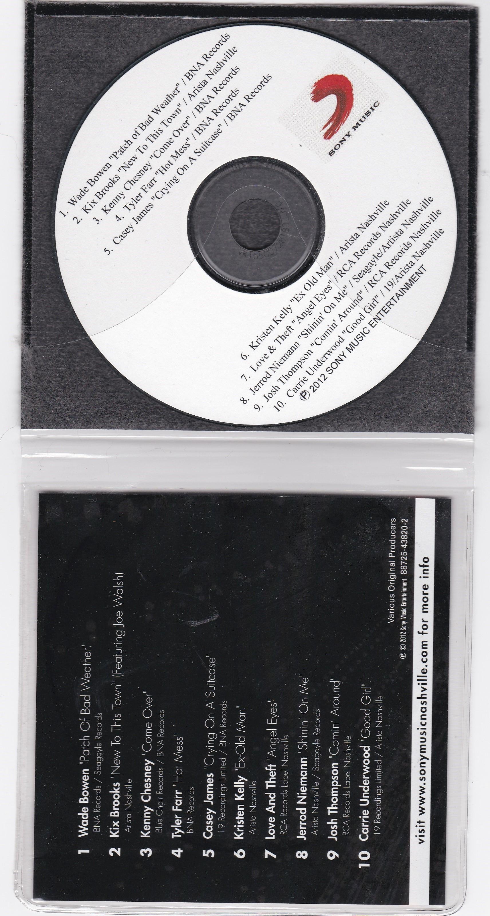 Sony Music Nashville - 2012 Label Sampler CD