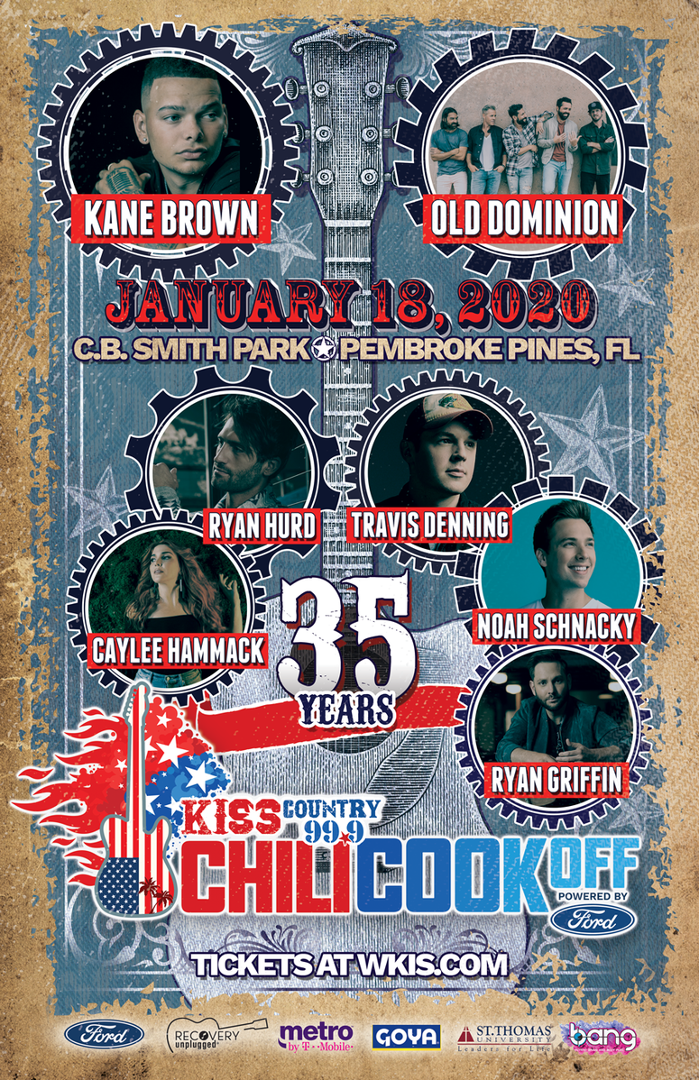2020 99 9 Wkis Kiss Country Chili Cookoff Lineup Announced South Florida Country Music